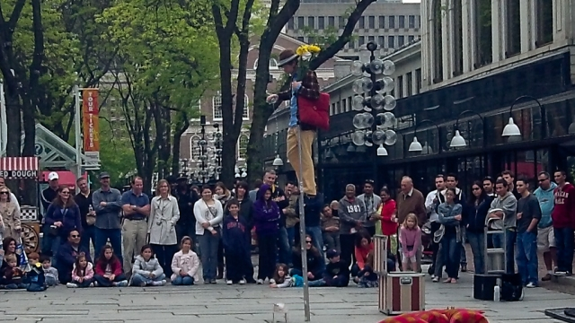 Quincy Market Street Performer