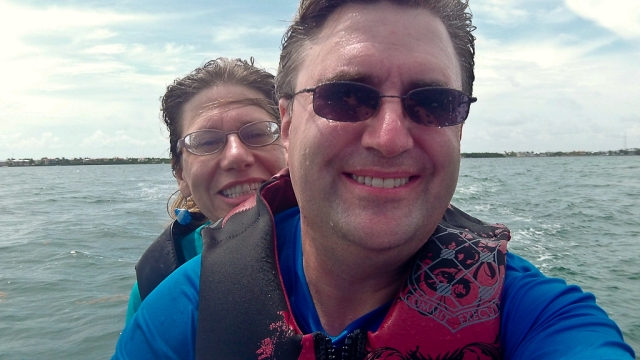 Key Largo 2012 - Mark and Eileen on a Jet Ski