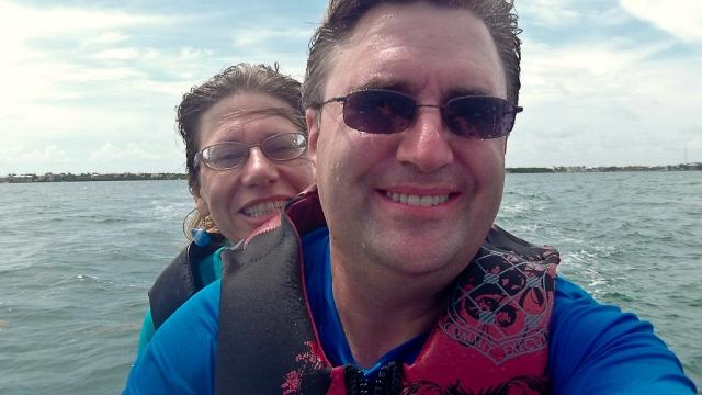 Key Largo 2012 - Mark and Eileen on a Jet Ski