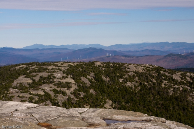 Looking north towards the White Mountains from the top of Mt. Cardigan