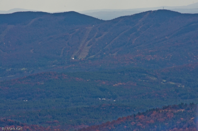 Ragged Mountain Ski Area form the top of Mt. Cardigan