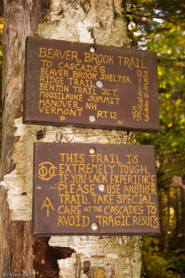 Beaver Brook Trail Sign