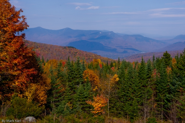View of southern part of the Franconia Range in Woodstock NH