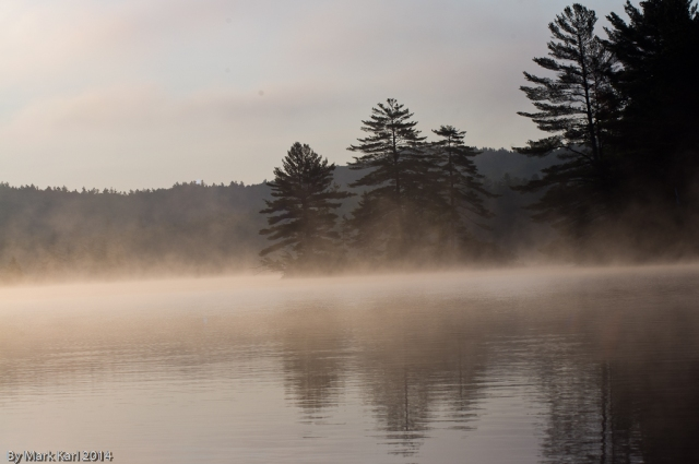 Morning mist on Grafton Pond.
