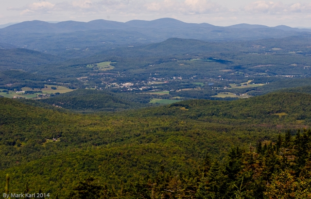 Bradford, VT from Mt, Cube south peak.