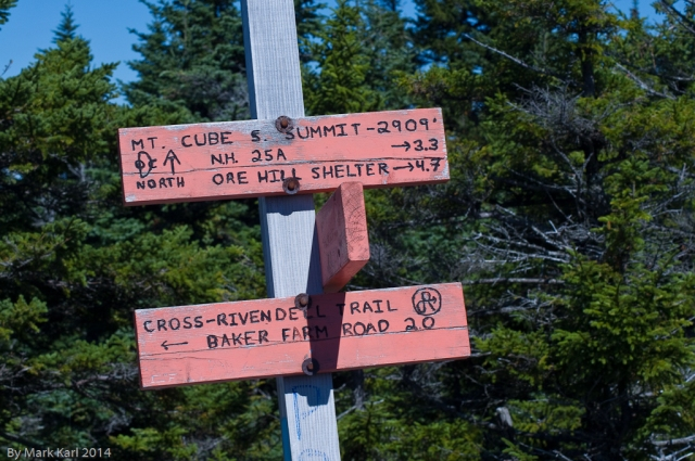 Mt. Cube trail sign.