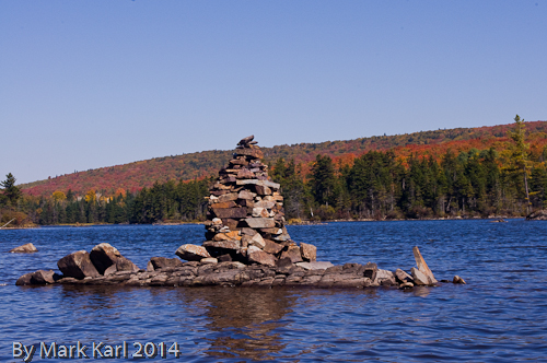 Long Pond rock cairn