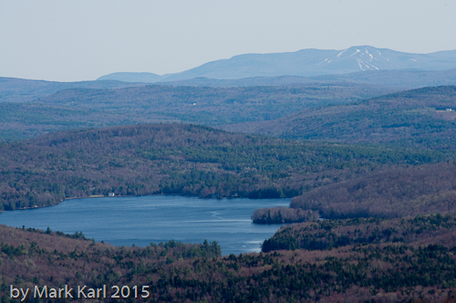 Goose Pond and the ski trails on Mt. Sunapee.