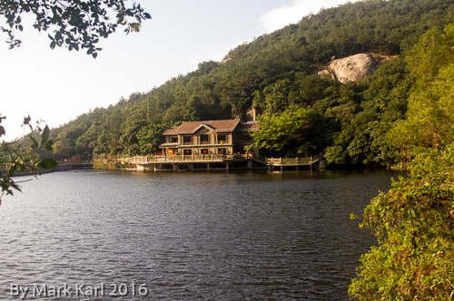 Sky Lake and the visitors center.