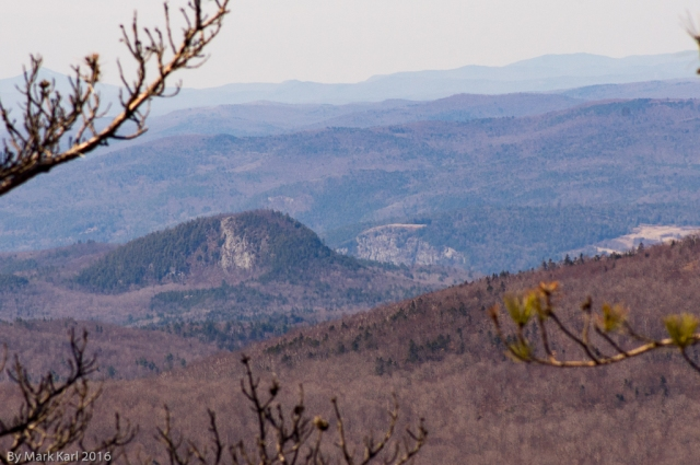 View towards Peaked Mt. in Piermont, NH and the cliff on Rt. 5 in Fairlee, VT.