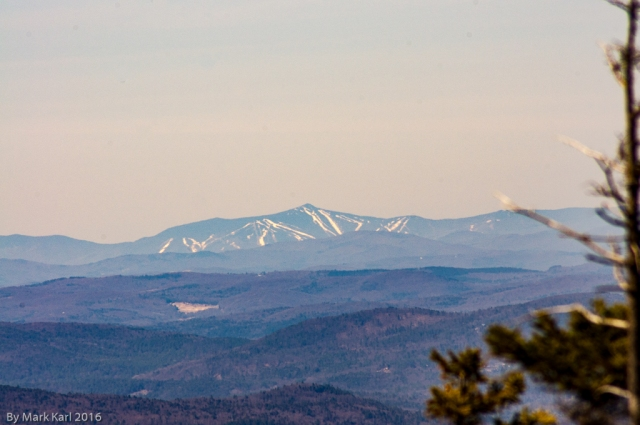 View of Killington Ski Resort 50 miles away in Killington, VT.
