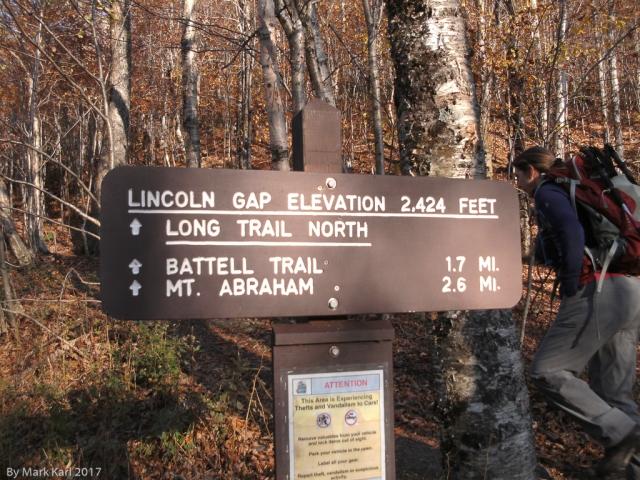 Mt. Abraham Trail Sign