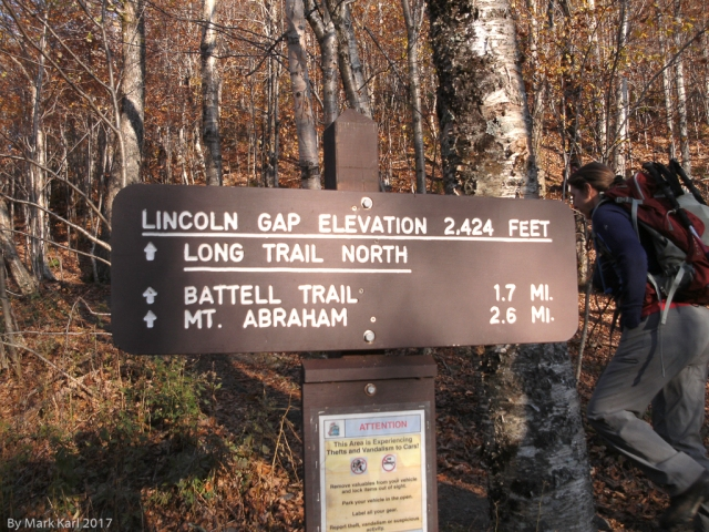 Mt. Abraham Trail Sign